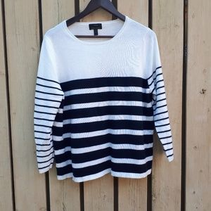 J Crew Striped Cashmere Sweater
